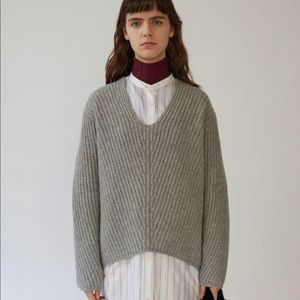 Acne Sweaters - Acne Studios Deborah Deep v-neck sweater grey